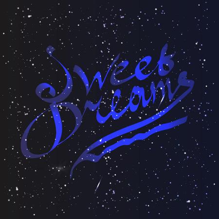dulces sue�os: Letras Dulces sue�os Vectores