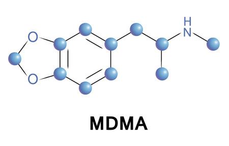 amphetamine: MDMA es una droga psicoactiva de las clases de fenetilamina y anfetamina de drogas con efectos euforizantes y empathogenic.