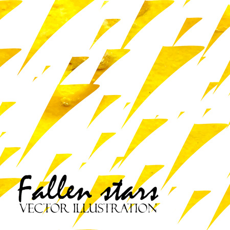 fallen: Watercolor painted background with fallen stars. Vector illustration.