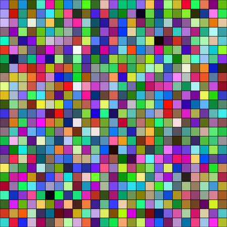 quadrant: Colorful mosaic squares Illustration