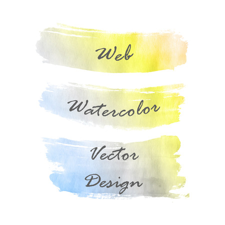 Web banners watercolor hand drawing set. Vector illustration. Vector