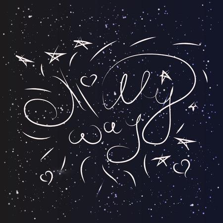 milky way: Melkweg sterren hemel