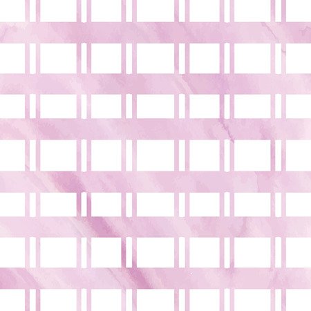 Watercolor light pink grid for vector background. Vector