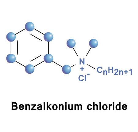 mould: Benzalkonium chloride is a cationic surface-acting agent, used as an active ingredient in pharmaceutical and personal care products. Illustration