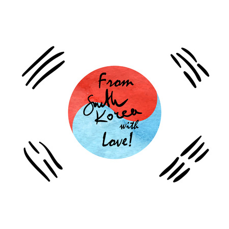 korea: South Korea Flag Sketch