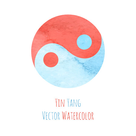 yan: Yin yang watercolor Illustration