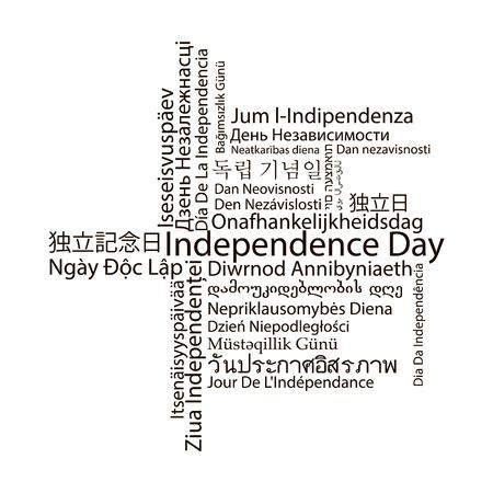 headliner: Independence Day black headliner banner in different languages Illustration