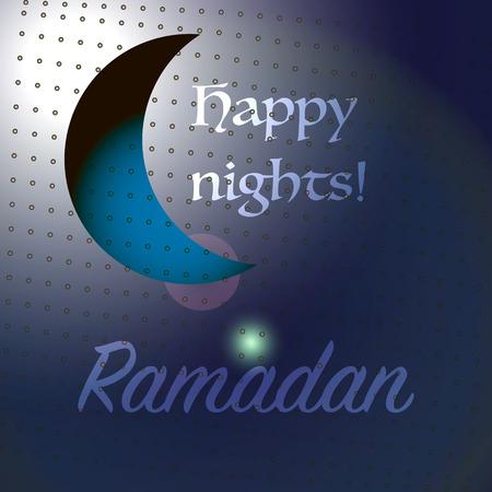 nights: Ramadan happy nights sign background.