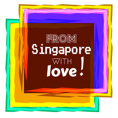 From Singapore with love text icon. Illustration