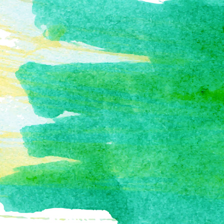 ombre: Watercolour ombre green painting made in vector.