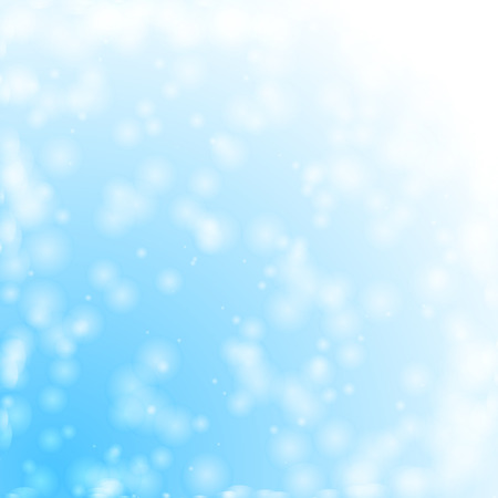 snowing: Bokeh lights for snowing skies, illustration made in vector.