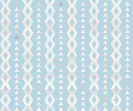 tracery: Geometric tracery in light blue colors tones. Vector pattern.