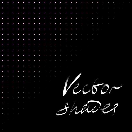 fading: Darken vector backdrop with shade dots. Fading illustration,