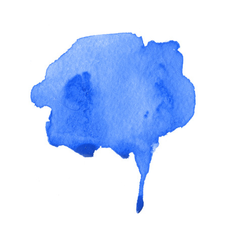 wet: Wet blue watercolour painting for stylish backdrop.
