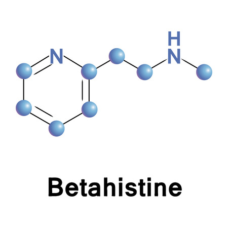 histamine: Betahistine has a very strong affinity as an antagonist for histamine H3 receptors and a weak affinity as an agonist for histamine H1 receptors. Illustration