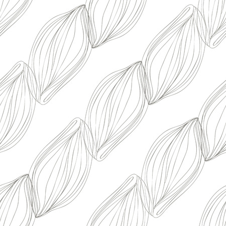 Sketch pattern of lined wavy ornate as diagonals. Vector background.