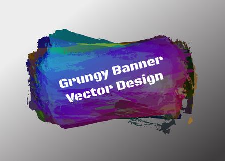 grunge banner: Black grunge Brush Paint banner, Vector eps 10