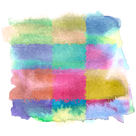 figuras abstractas: Watercolor bright banner template. Vector modern stylized background.