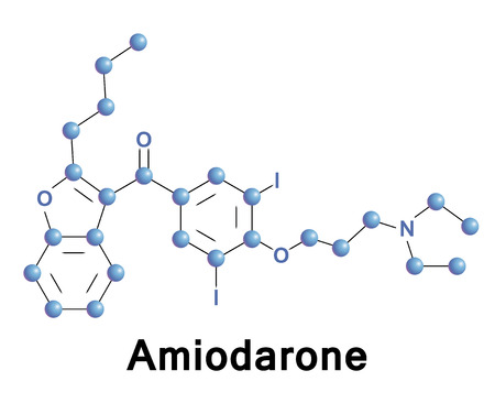 suppression: Amiodarone is a class III antiarrhythmic agent used for various types of ventricular and atrial cardiac dysrhythmias. Used for acute life-threatening and the chronic suppression of arrhythmias.
