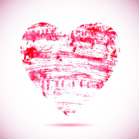 heart symbol: brush painted heart symbol for a romantic illustrations, made in vector