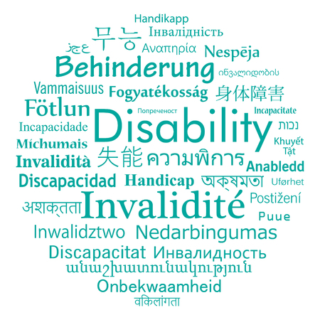 Disability in different language of the world