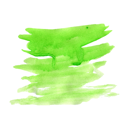 green watercolor, stoked horizontally vector watercolour illustration
