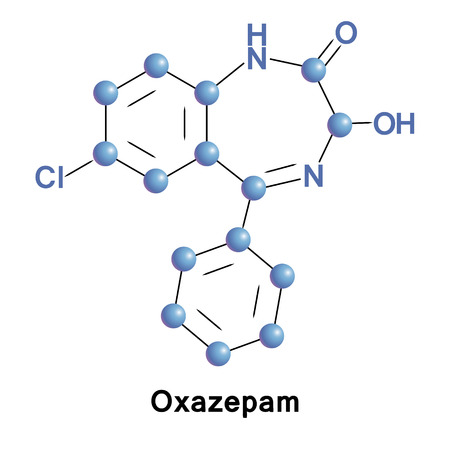 Oxazepam is a short-to-intermediate-acting benzodiazepine. Oxazepam is used for the treatment of anxiety and insomnia and in the control of symptoms of alcohol withdrawal. Illustration