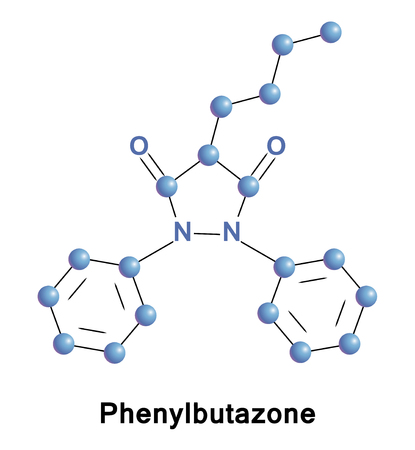 spondylitis: Phenylbutazone is a nonsteroidal anti-inflammatory drug (NSAID) for the short-term treatment of pain and fever in animals, it can cause suppression of white blood cell production and aplastic anemia.