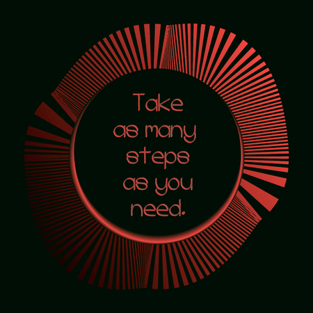 need direction: conceptual round stairs for success, vector motivational illustration with dark frame