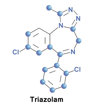 Triazolam is a central nervous system (CNS) depressant in the benzodiazepine class. It is generally only used as a sedative to treat severe insomniaand, circadian rhythm sleep disorders, such jet lag.