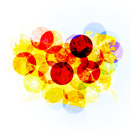shiny heart shaped bokeh. vector element for banner or card