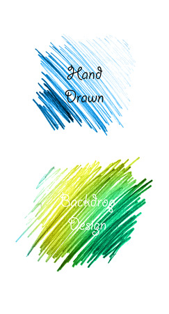hand drawn pencil backdrop set in vector