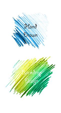 garabatos: lápiz mano dibujada telón de fondo establecido en el vector