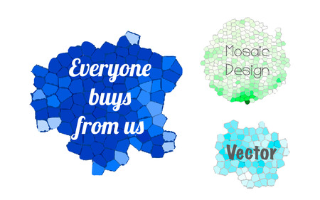 Everyone buys from us, set of stylized vector banners