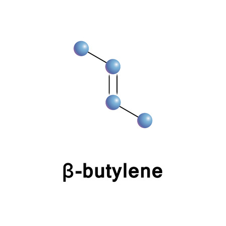 explosive gas: 2-Butene, also known as 2-butylene, is an alkene with the formula C4H8, it can be used as the monomer for polybutene or co-polymer.  Vector skeletal formula.