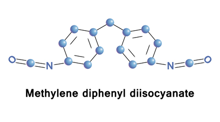 macromolecule: Methylene diphenyl diisocyanate is an aromatic diisocyanate.