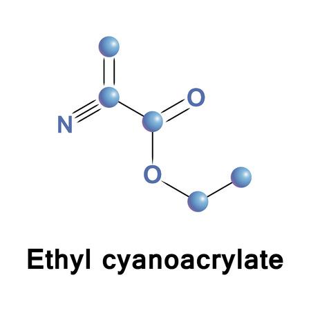Ethyl cyanoacrylate, ECA, a cyanoacrylate ester, is an ethyl ester of 2-cyano-2-propenoic acid.