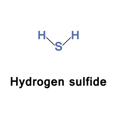 explosive gas: Hydrogen sulfide is the chemical compound, it is heavier than air, very poisonous, corrosive, flammable, and explosive, properties shared with the denser hydrogen chalcogenides. Stock Photo