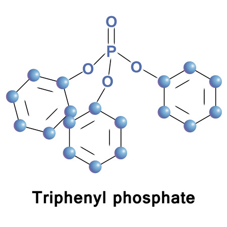 retardant: Triphenyl phosphate, TPhP, is the triester of phosphoric acid and phenol. It is used as a plasticizer and a fire retardant in a wide variety of settings and products. Stock Photo