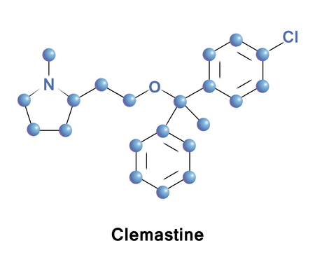 Clemastine, also known as meclastin, is an antihistamine and anticholinergic. It is a sedating antihistamine but has fewer side effects. It is also classified as an antipruritic