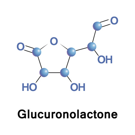 Glucuronolactone is a naturally occurring chemical that is an important structural component of nearly all connective tissues. It is also found in many plant gums