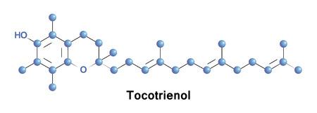 Los tocotrienoles son miembros de la familia de la vitamina E. Foto de archivo - 70765178