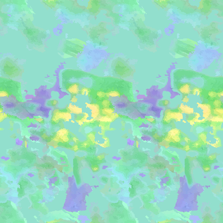 Abstract greenery seamless watercolor.
