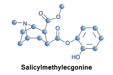 Salicylmethylecgonine is a tropane derivative drug which is both a synthetic analogue and a possible active metabolite of cocaine.