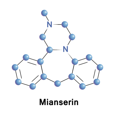 Mianserin is a psychoactive drug of the tetracyclic antidepressant therapeutic family. It is classified as a noradrenergic and specific serotonergic antidepressant