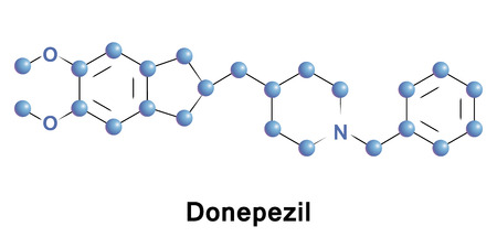 Donepezil is a medication used in the palliative treatment of Alzheimer s disease. It is used to improve cognition and behavior, but does not slow the progression of or cure the disease