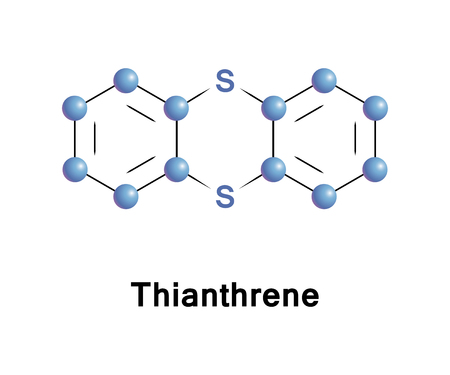 Thianthrene is a sulfur-containing heterocyclic chemical compound. It is a derivative of the parent heterocycle called dithiin.