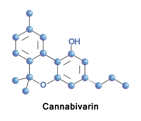 structural formula: Cannabivarin, also known as cannabivarol or CBV, is a non-psychoactive cannabinoid found in minor amounts in the hemp plant Cannabis sativa