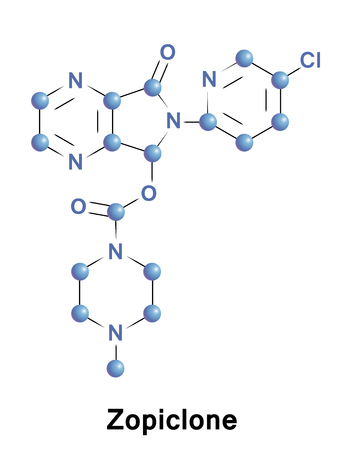 Zopiclone is a nonbenzodiazepine hypnotic agent used in the treatment of insomnia. It is a cyclopyrrolone, increasing a transmission of the neurotransmitter gamma-Aminobutyric acid in the CNS