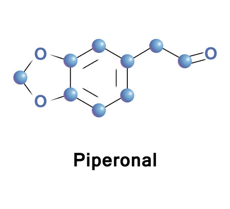 Piperonal, also known as heliotropin, is an organic compound which is commonly found in fragrances and flavors. The molecule is structurally related to other aromatic aldehydes